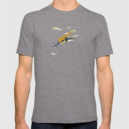 Giraffe riding shark T-shirt