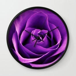 Purple Passion Rose Wall Clock