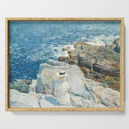 Childe Hassam - The South Ledges, Appledore, 1913 Serving Tray