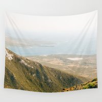 greece Wall Tapestries featuring Crete, Greece by Emelie Johansson