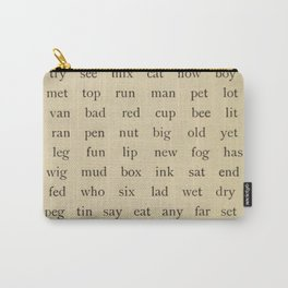 Vintage Words Carry-All Pouch