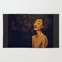 afro Area & Throw Rugs featuring afro - Soul by Mike Koubou