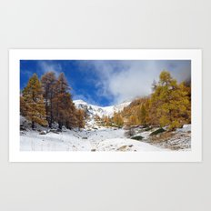 Fire In The Snow Art Print