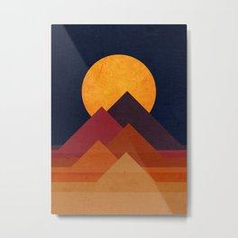 Full moon and pyramid Metal Print