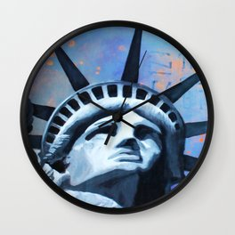 Welcome to New York Statue of Liberty Wall Clock