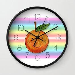 Freckle Cute Orange Wall Clock