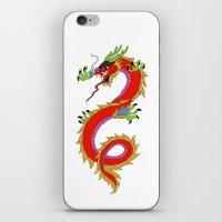dragon iPhone & iPod Skins featuring dragon  by mark ashkenazi