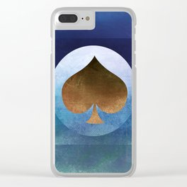 Ace of Spades II Clear iPhone Case