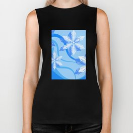 The Flower Abstract Holiday Biker Tank