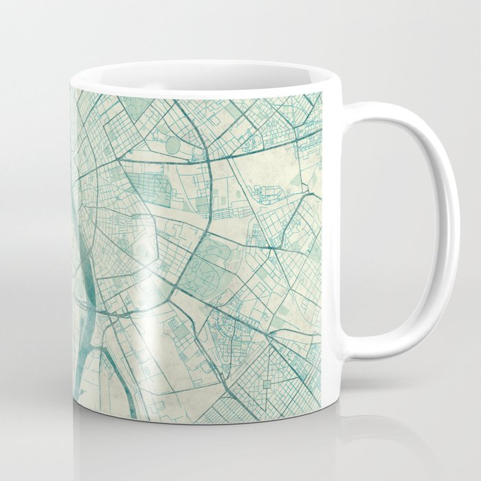 Budapest Map Blue Vintage Coffee Mug By Hubertroguski Society - Vintage budapest map