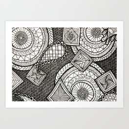 Bobbles Art Print