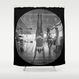 Porthole Handstand Shower Curtain
