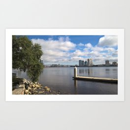 Riverside View Art Print