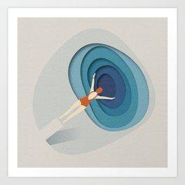 Dive Into Blue Art Print