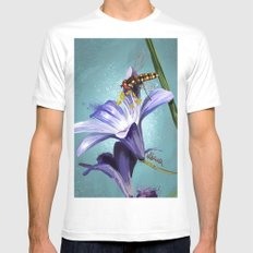 Wasp on flower 11 MEDIUM White Mens Fitted Tee