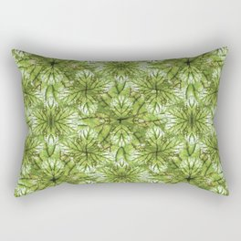 Stylized Nature Pattern Design Rectangular Pillow