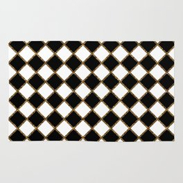 Geometric ornament gold seamless pattern Rug