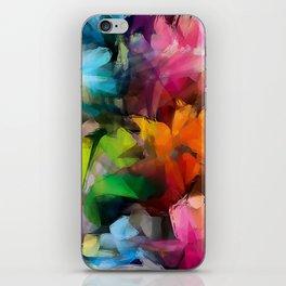 Dancing Rainbow Feathers iPhone Skin