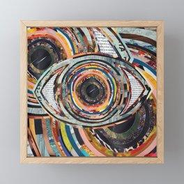 Rainbow Eyes Collage Framed Mini Art Print
