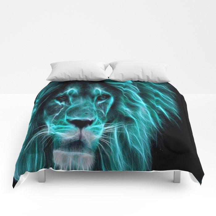 Leo Lion Turquoise Comforters