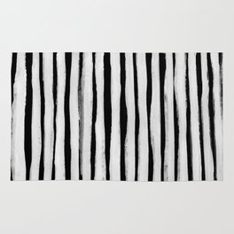 Black and White Stripes II Rug