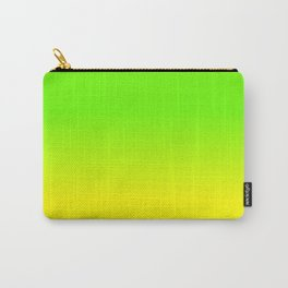 Neon Green and Neon Yellow Ombré  Shade Color Fade Carry-All Pouch