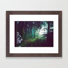 Trooper on Endor Framed Art Print