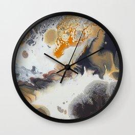 Cobblestone - Abstract Acrylic Painting - Stone Like Wall Clock