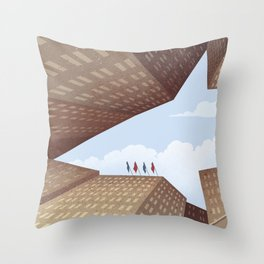 The Shark of Wall Street Throw Pillow