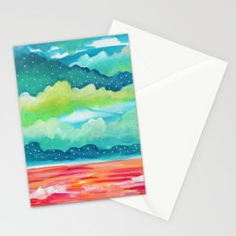 Abstract Seascape IV Stationery Cards