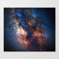 milky way Canvas Prints featuring Milky Way by Zavu