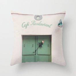 Paris, La Maison Rose and a Rose Throw Pillow