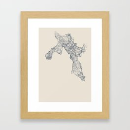 'Inheritance' (6 of 6). Original ink drawings re-coloured in Photoshop. (Other colourways available) Framed Art Print