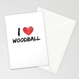 I Love Woodball Stationery Cards