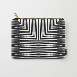 Geometric Black and White African Inspired Pattern Carry-All Pouch