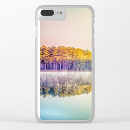 Lakescape at Sunrise Clear iPhone Case