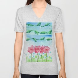 Valley of Roses Unisex V-Neck