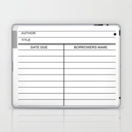 Library Due Date Card Laptop & iPad Skin