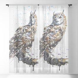 Owl wild & free Sheer Curtain