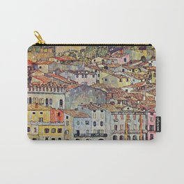 """Gustav Klimt """"Malcesine on Lake Garda"""" Carry-All Pouch"""