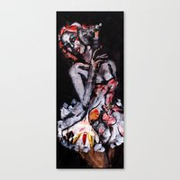 moulin rouge Canvas Prints featuring Moulin by Aksel Klintmalm
