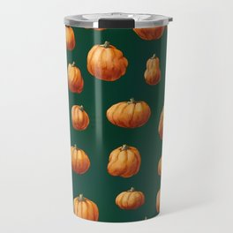 Illustrated Pumpkin Pattern Travel Mug