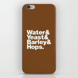 The Fab 4 - Beer (colour) iPhone Skin