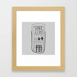 math and science are best friends Framed Art Print