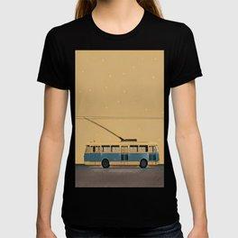 Trolleybus & stars T-shirt