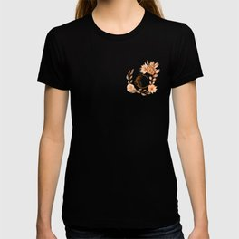 Monogram C Fall Colors Browns and Peach, Autumn Colors T-shirt