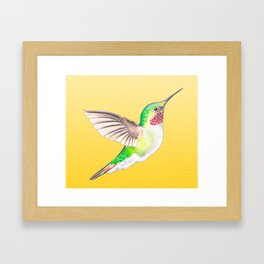 Hummer Yellow Framed Art Print
