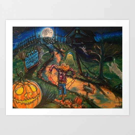 At the stroke of Halloween Art Print