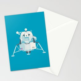 Apollo 11 Lunar Lander Module - Plain Cyan Stationery Cards