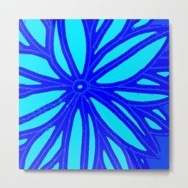 aqua blue bloom Metal Print